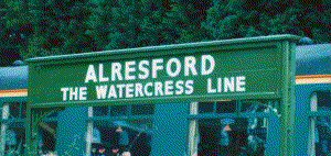 Alresford Station nameboard